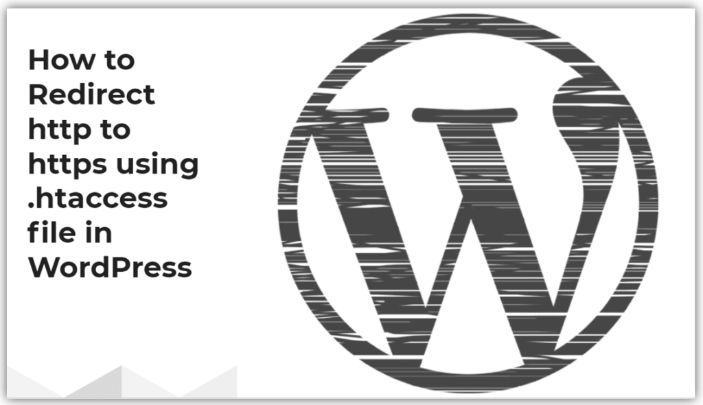 How to Redirect http to https using .htaccess file in WordPress