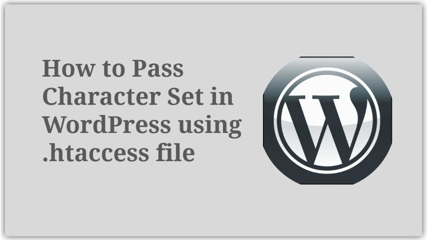 How to Pass Character set in WordPress