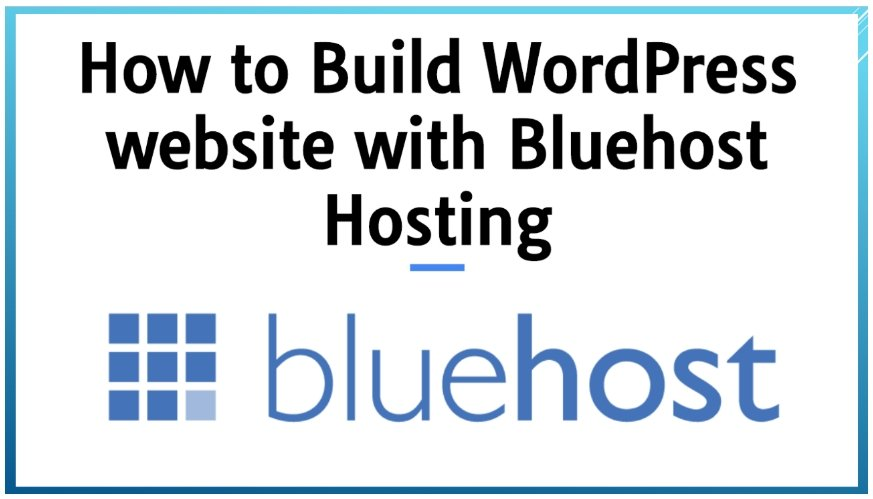 How to Build WordPress website with Bluehost Hosting